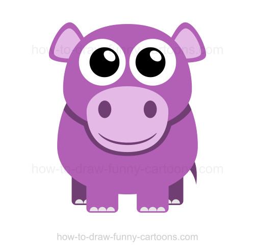 Drawn hippo #10