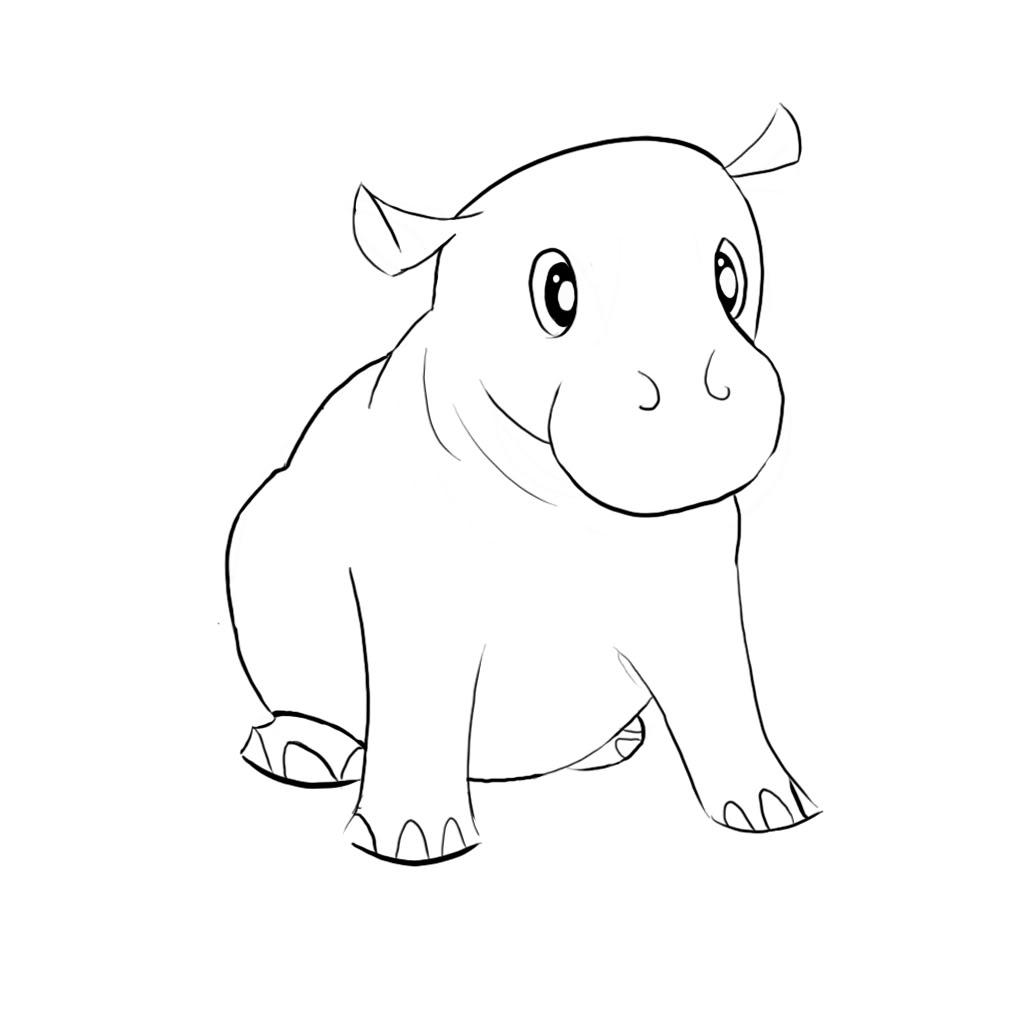 Drawn hippo #15
