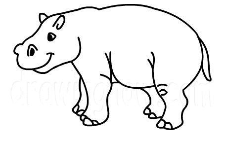 Drawn hippo #3
