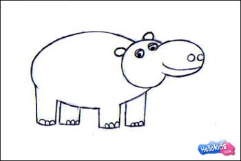 Drawn hippo #8