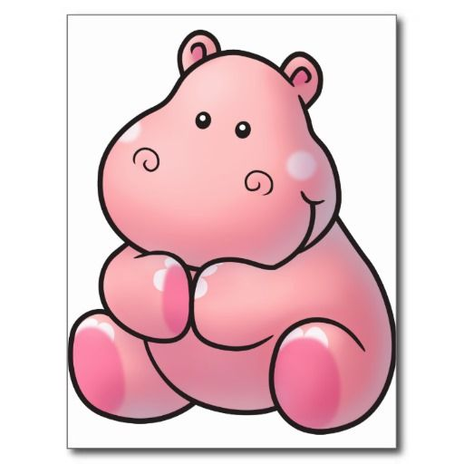 Adorable clipart baby hippo Google images on Jungle Pinterest