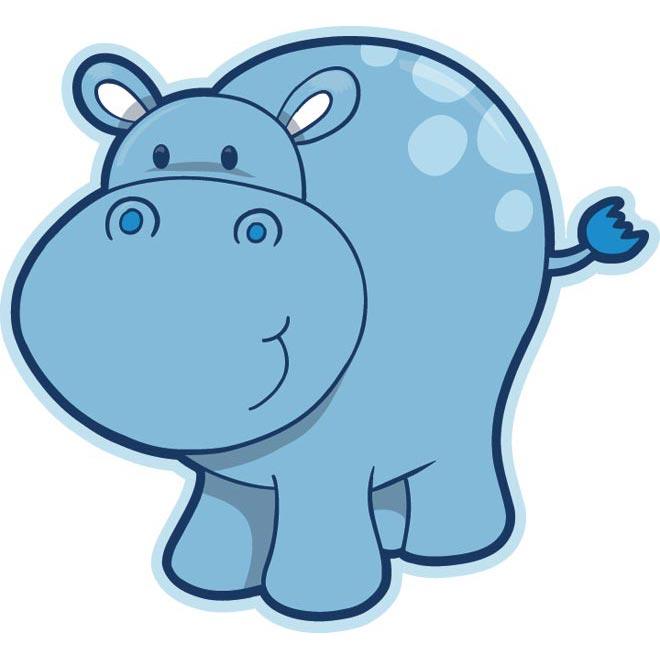 Adorable clipart baby hippo Beautiful hippopotamus Vector_Animal_00026  Vector_Animal_00026
