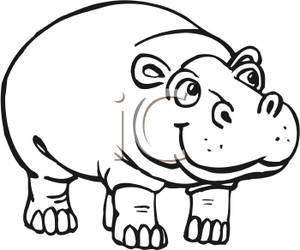 Black clipart hippo Hippopotamus Clipart Panda Clipart Clipart