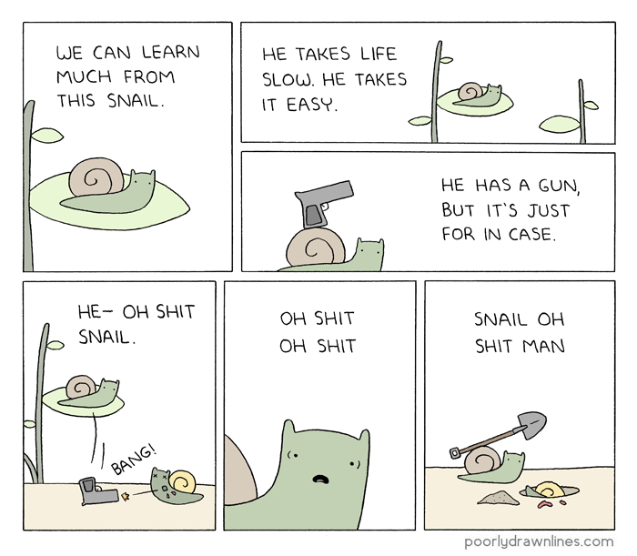 Drawn snail comic Poorly Snail Learn  Lines