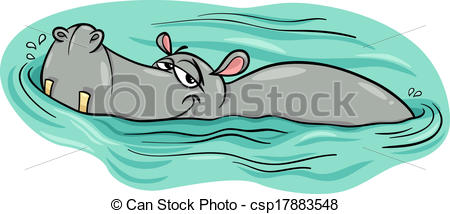 Drawn hippo water cartoon Hippo river Cartoon hippopotamus cartoon