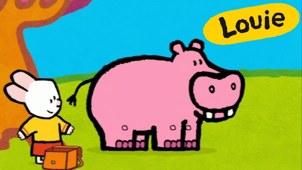 Drawn hippo water cartoon Louie hippopotamus hippopotamus me YouTube
