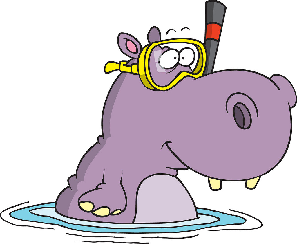 Drawn hippo water cartoon Res HIPPO HIP High