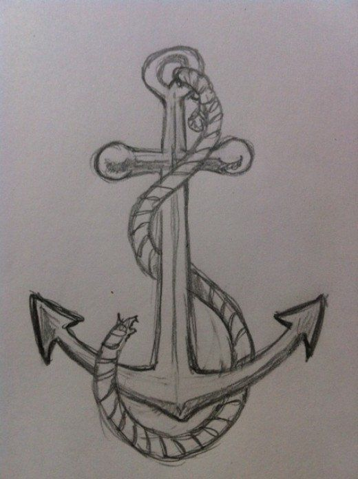 Drawn anchor vector On Best How an Draw
