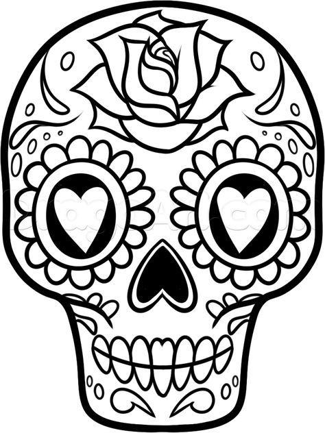Drawn book easy A skull step 10 Pinterest