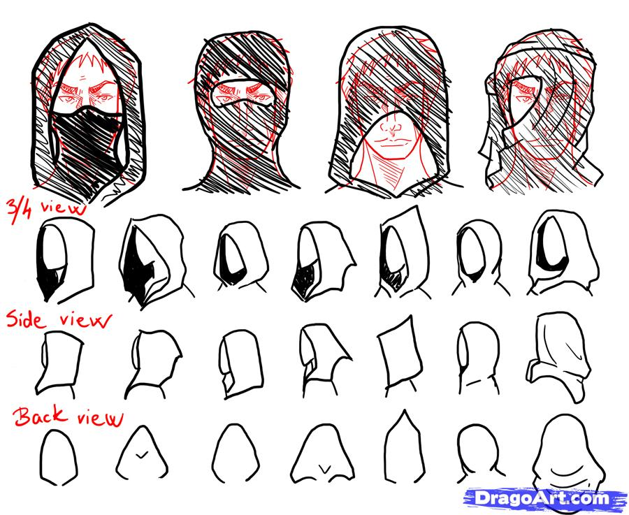 Drawn hood  step jpg draw to