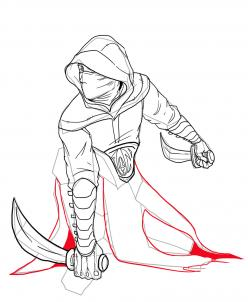 Drawn hood  Step People Assassin an