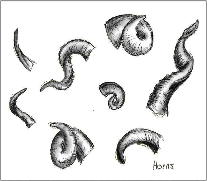 Drawn horns SulZala by YoshikuniShiku Horns by