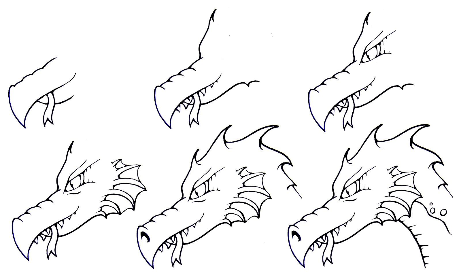 Drawn horns curved dragon Drawing Dragon Drawing ARTWORK Art