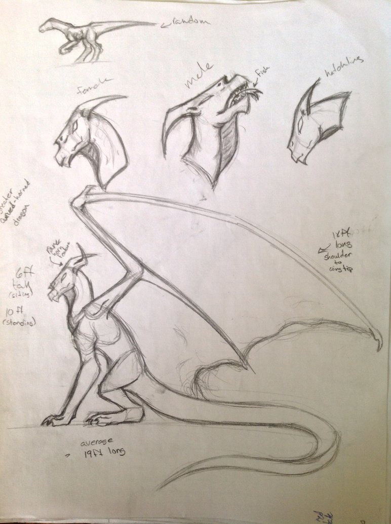Drawn horns curved dragon RandomHyenaLOL on Greater curved by