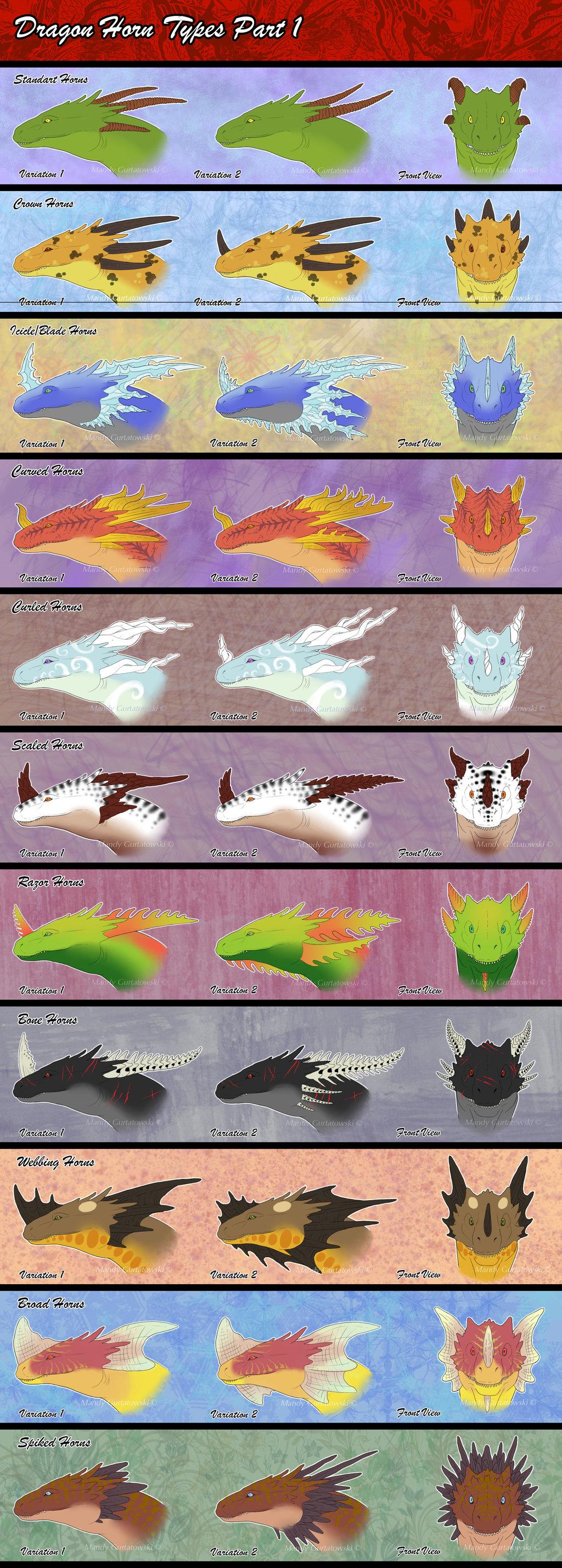 Drawn horns curved dragon Types Araless Dragon Dragon Horn