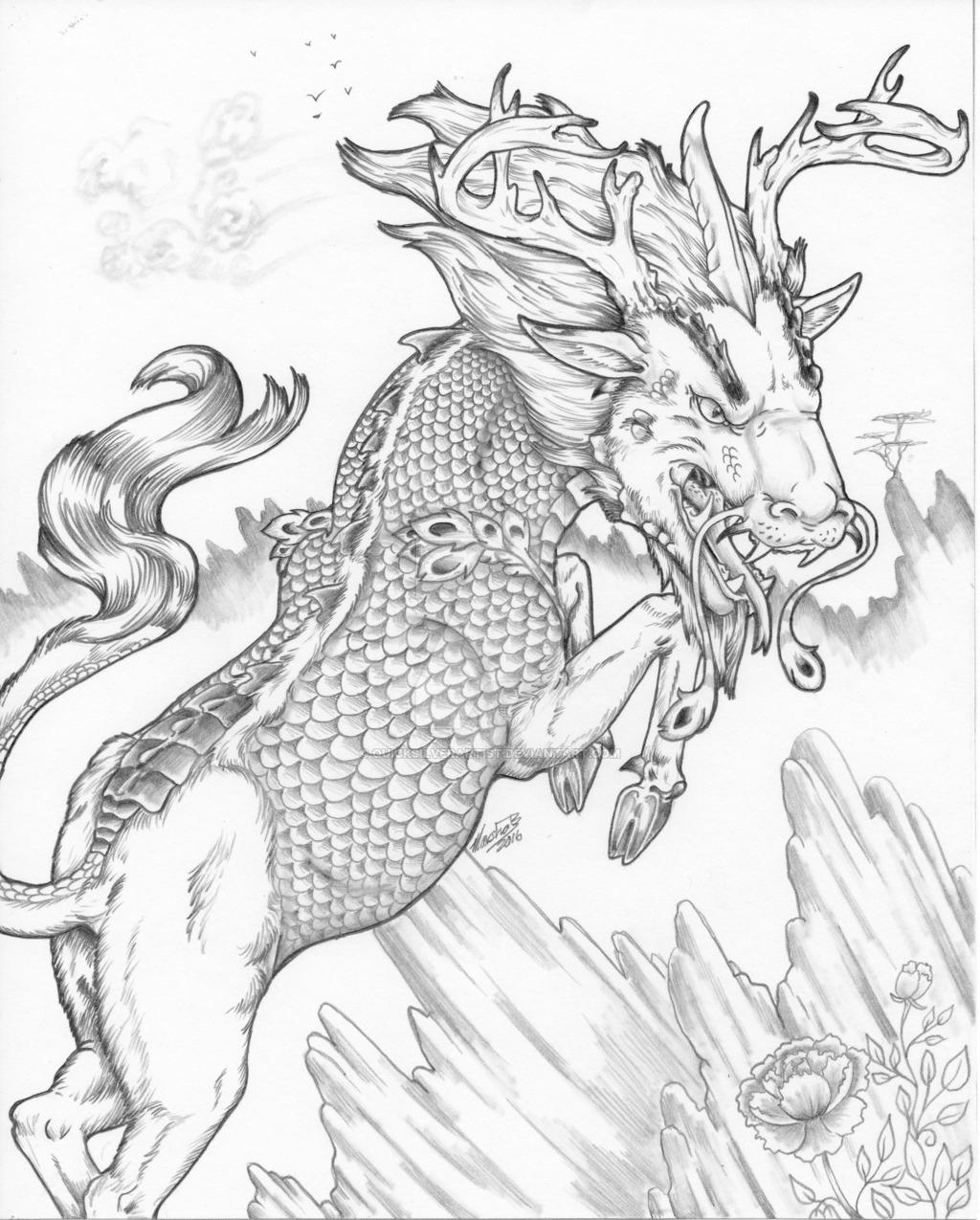 Drawn horns QuickSilverArtist by Type) (3 Kirin