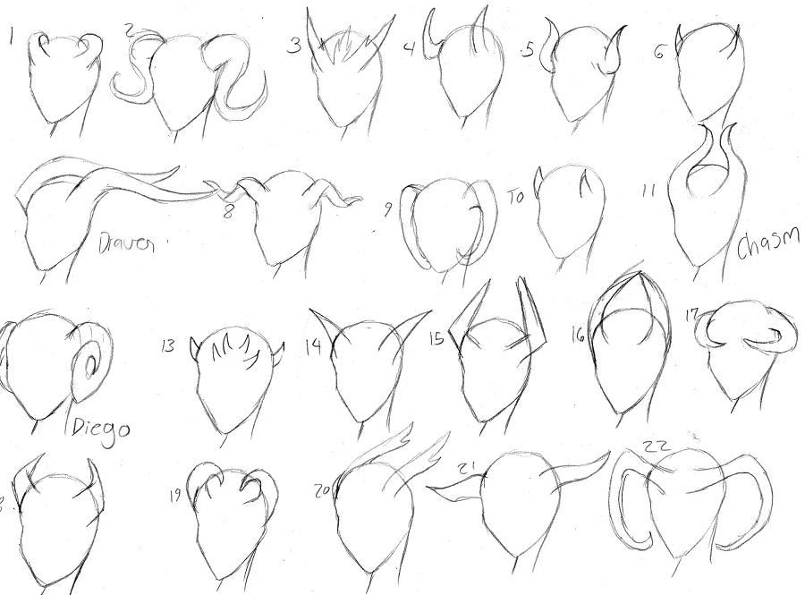Drawn horns  SFX Demon_Horn_Chart_by_kayla_of_nosgoth Character reference