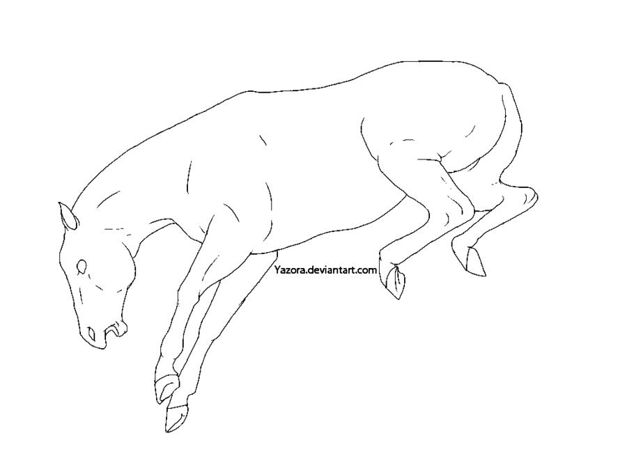 Drawn horse bucking On Line Paint DeviantArt Paint