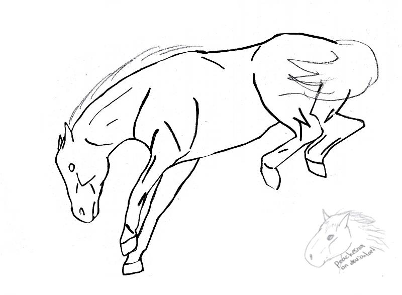 Drawn horse bucking Horse drawing photo#10 Bucking Bucking