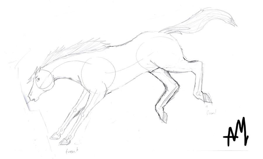Drawn horse bucking Horse by DeviantArt TheAssholeProphet bucking