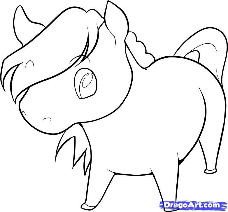 Drawn horse cute Horse horse drawn Cute Cute