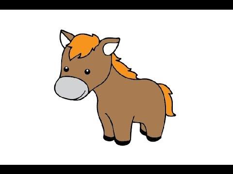 Drawn horse cute Cute Draw to / a