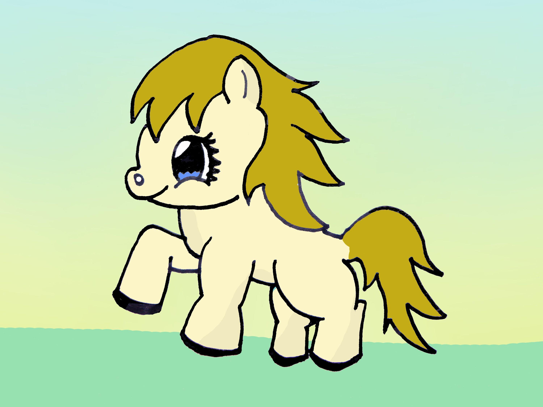 Drawn horse cute Coloring  Horse Drawings Full