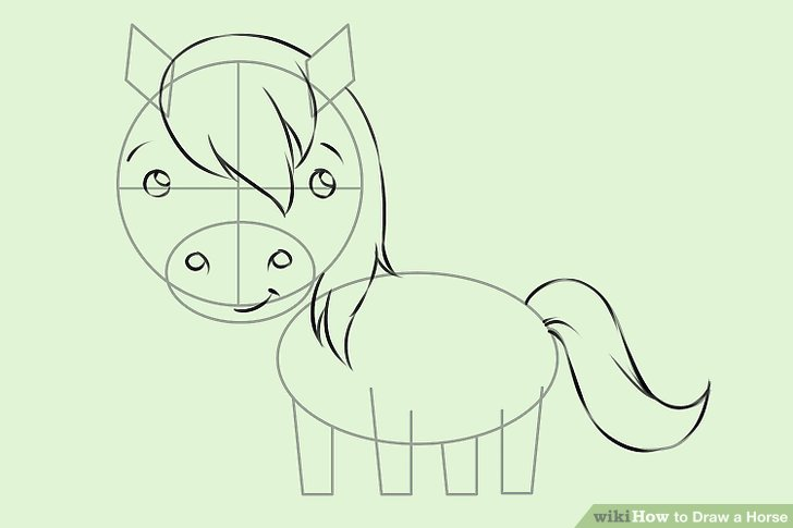 Drawn trolley anime horse Image a 7 4 Draw