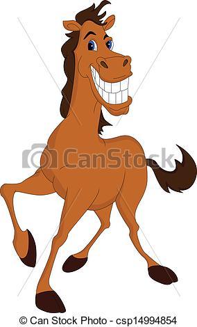 Drawn horse funny Horse  Vector cartoon horse