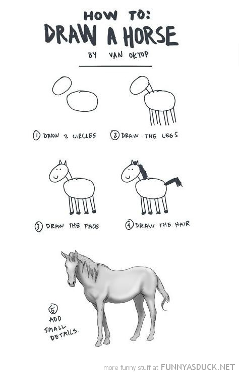 Drawn horse funny Pics photo how Funny pictures