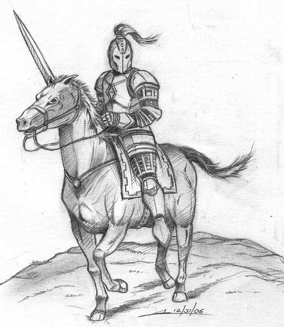 Drawn armor white knight #7