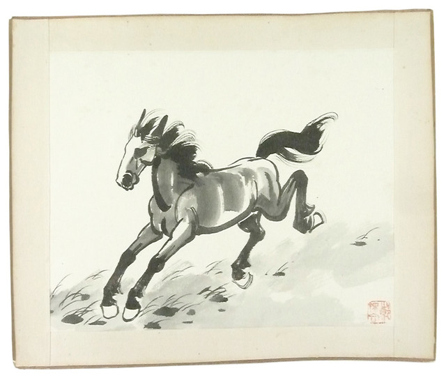 Drawn horse japanese horse And Japanese illustrations drawings Consigned