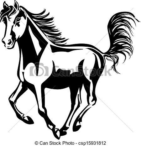 Drawn horse mustang horse Art DESIGNS Clip Art Horse