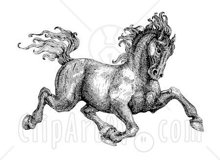 Drawn horse pen Ink Resource Blog Pen Artist: