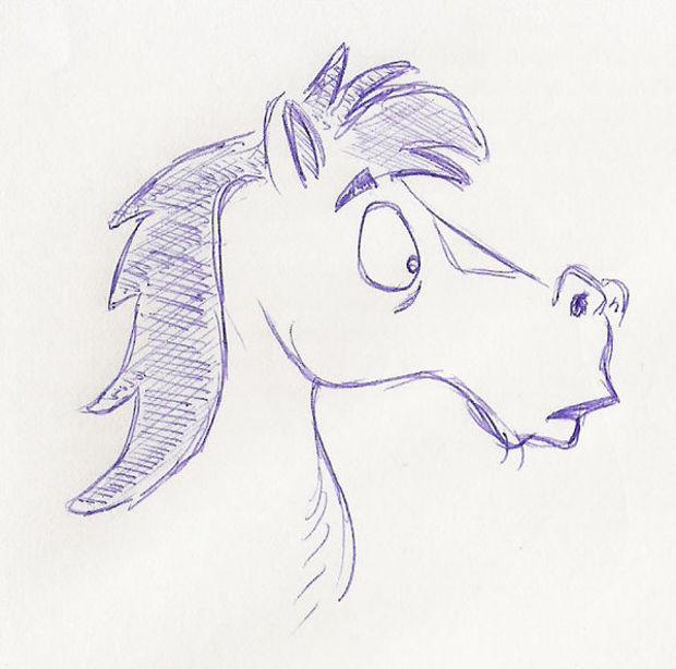 Drawn horse pen Art Drawing Design PSD