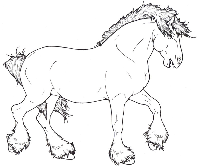 Drawn horse shire horse Horse pages Pages Images Coloring