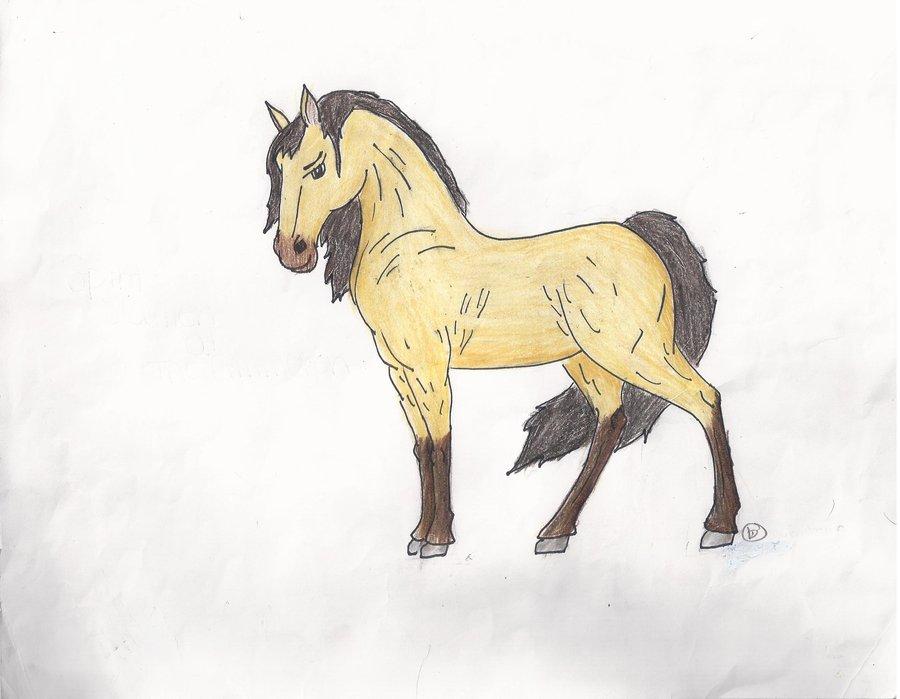 Drawn horse spirit Spirit Stallion bluegumibear Spirit bluegumibear