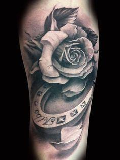 Drawn horseshoe arm Cowboy horse tattoo tattoo 25+