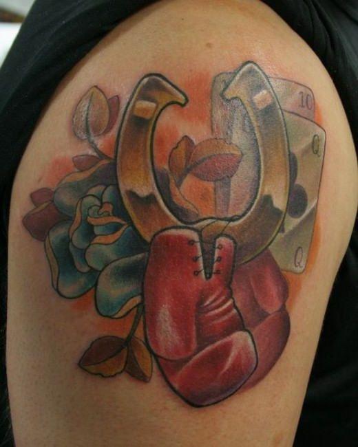 Drawn horseshoe arm Tattoos Horseshoe Horseshoe Horseshoes Tattoo