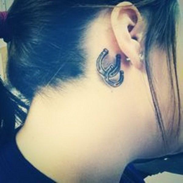 Drawn horseshoe ear Ear Tattoo Pretty For Ear