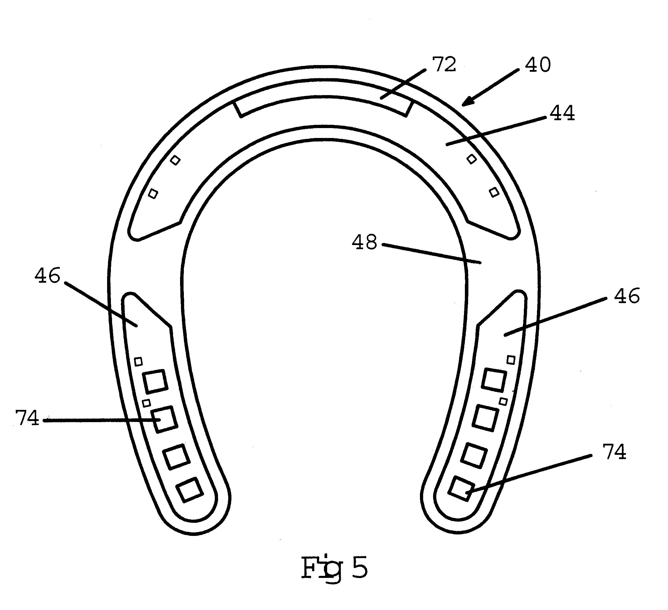 Drawn horseshoe ear US6497293 Drawing Google Patents Horseshoe