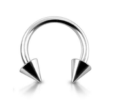 Drawn horseshoe ear Barbell on 10 Ear Cone