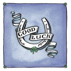 Drawn horseshoe hand Drawn good watercolour and Luck