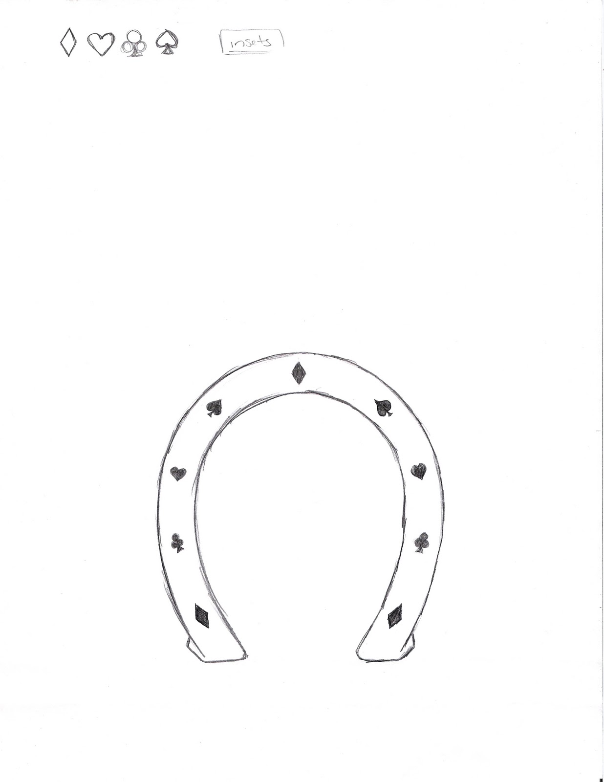 Drawn horseshoe hand Ad Collegio on ready for