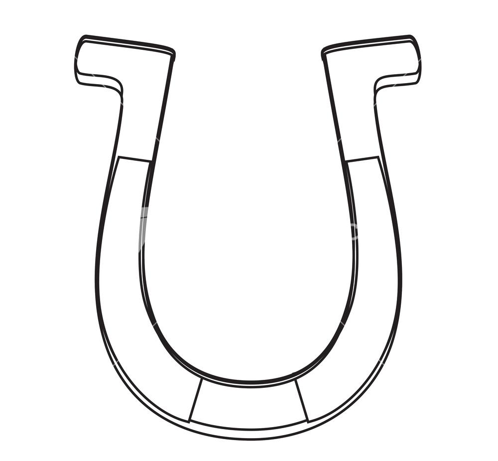 Drawn horseshoe horsesho Stock Shape Drawing Horseshoe Image