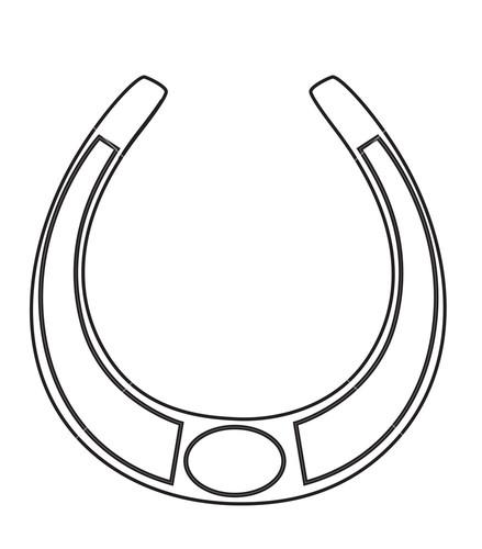 Drawn horseshoe horsesho Drawing Shape Stock Vector Horseshoe
