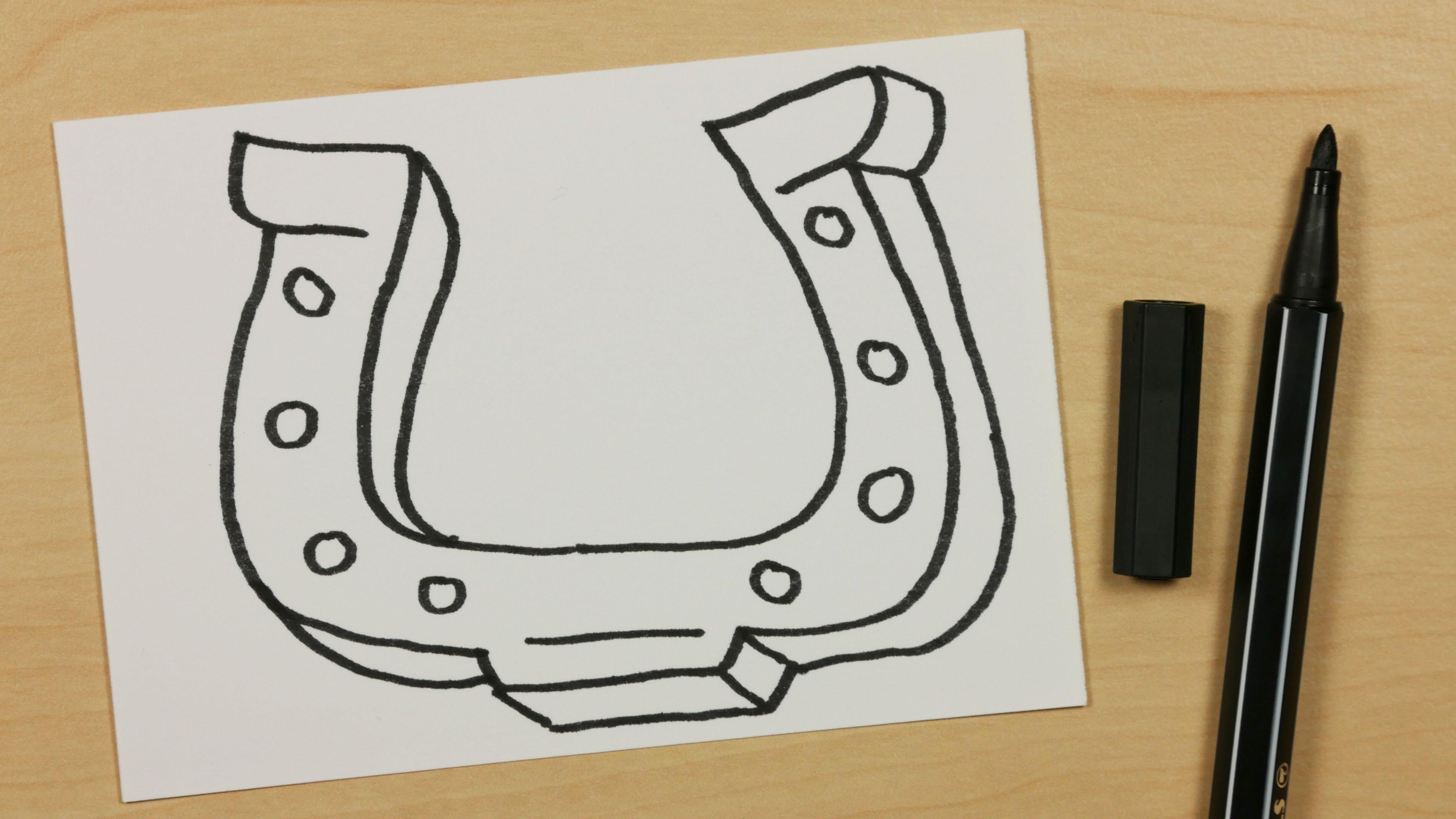 Drawn horseshoe horsesho Easy to Cartoon for Doodle