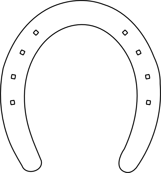Horseshoe clipart outline Royalty Clip com Clker at