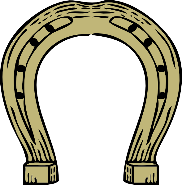 Horseshoe clipart brown Horseshoe royalty Download  Clip