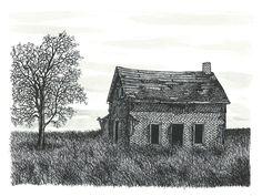 Drawn hosue farm house Farm Family Vintage House Drawings
